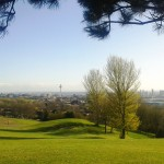 Liverpool's skyline from Everton Park on a sun drenched Mayday 2013