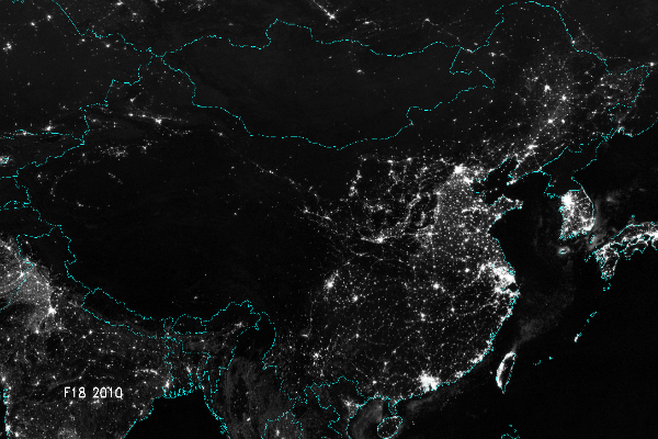 China Lights Up – Beautiful 'China Urbanization' Night Maps