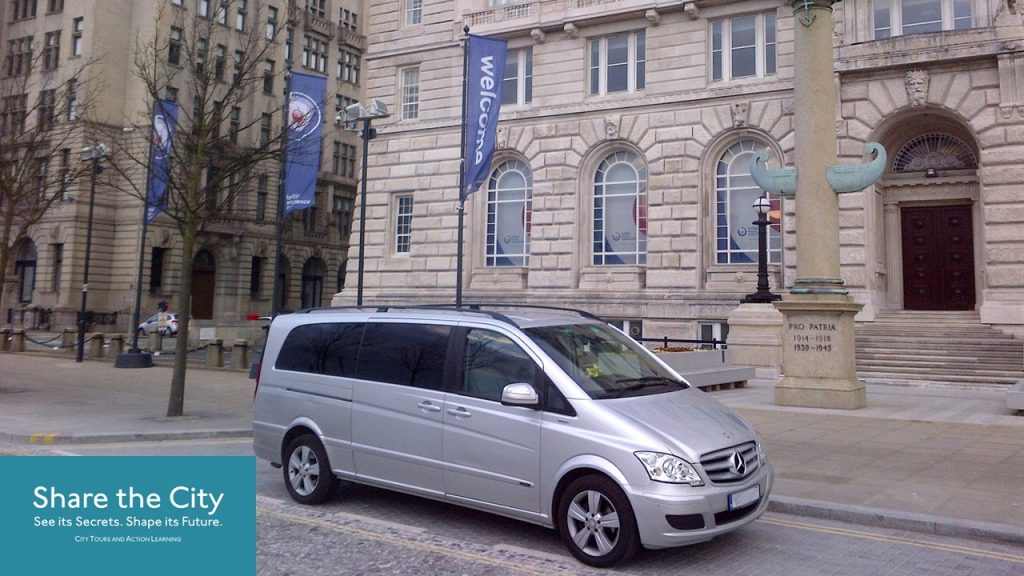 Mercedes Viano MPV at Liverpool's Pier Head