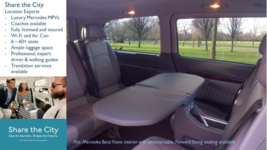 Private Liverpool tours and tours of North Wales and Northern England in luxury Mercedes MPVs.