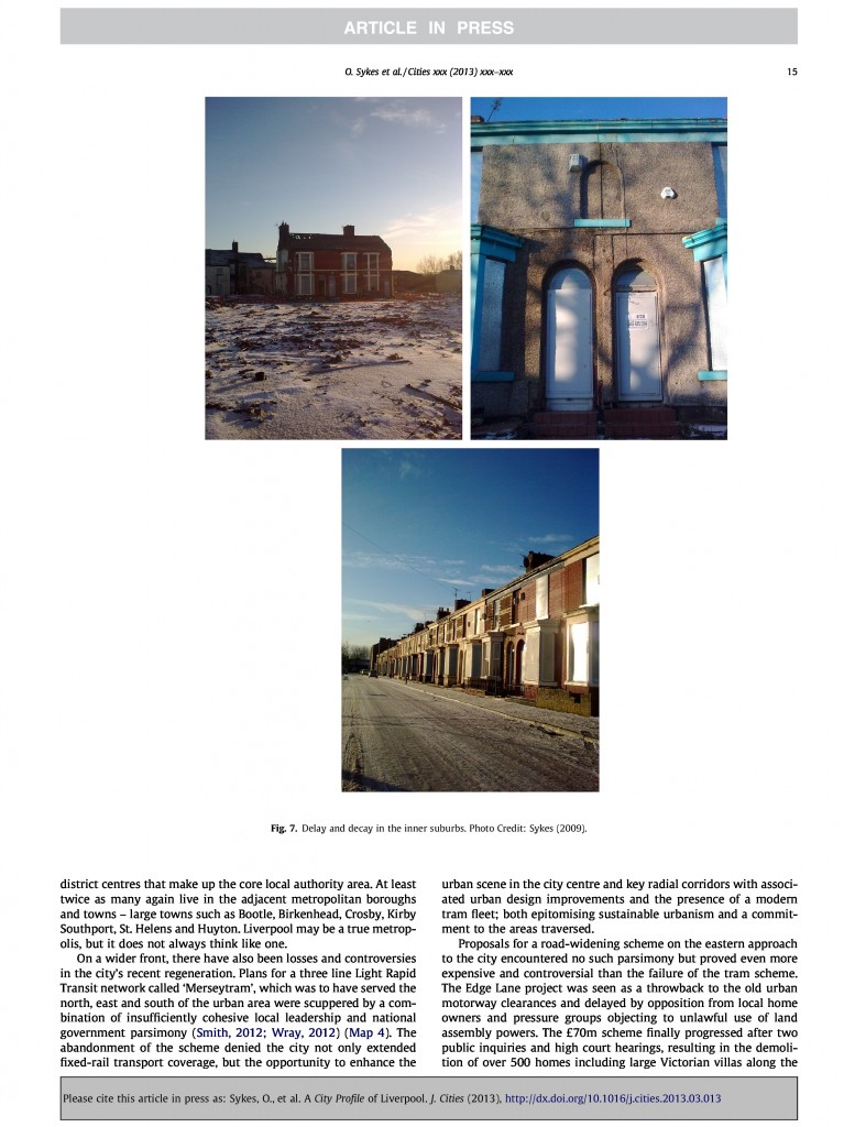Liverpool City Profile, Journal of Cities, 2013, Page 15/20