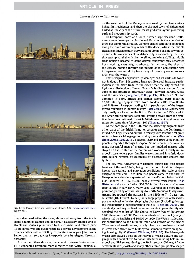 Liverpool City Profile, Journal of Cities, 2013, Page 5/20