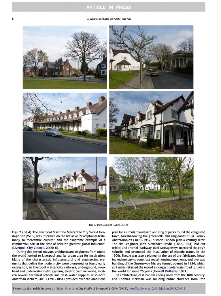 Liverpool City Profile, Journal of Cities, 2013, Page 8/20