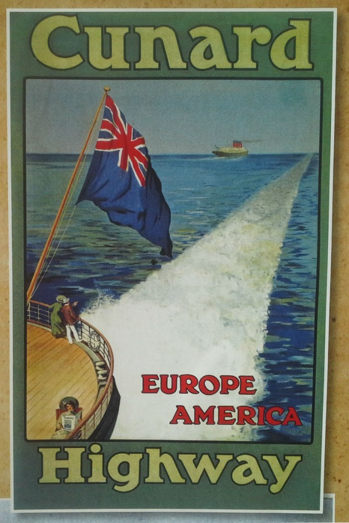 Classic Cunard Poster - the Cunard Highway linking Europe and America