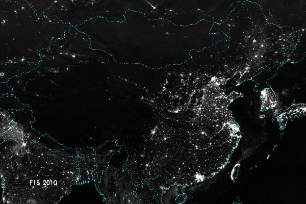 China Lights Up – Beautiful 'China Urbanization' Night Maps