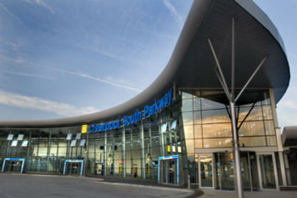 Liverpool's modern South Parkway Station serves John Lennon Airport and the city's southern suburbs. Pic: aati.co.uk