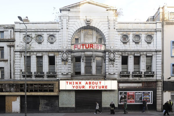 The Futurist on Liverpool's famous Lime Street. Pic from Liverpool Biennial.