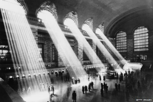 Let there be light: New York's Grand Central Station in 1930. Pic: Getty Images
