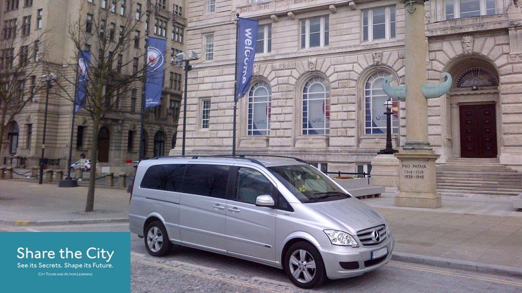 Mercedes Viano MPV at Liverpool's Pier Head