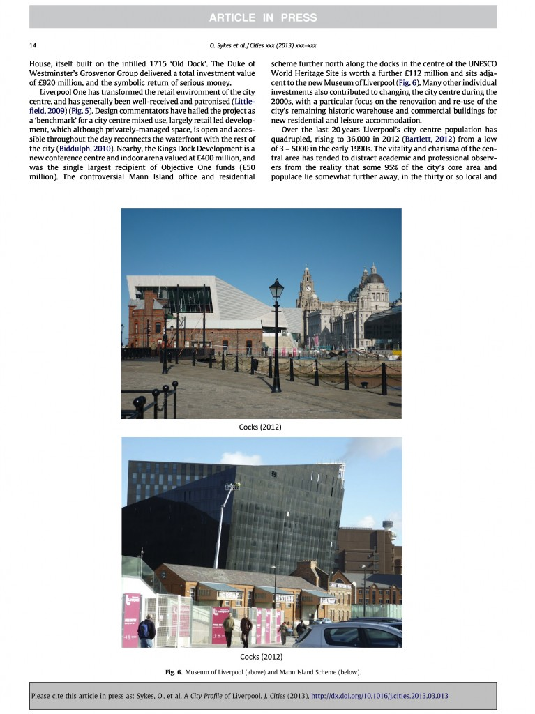Liverpool City Profile, Journal of Cities, 2013, Page 14/20