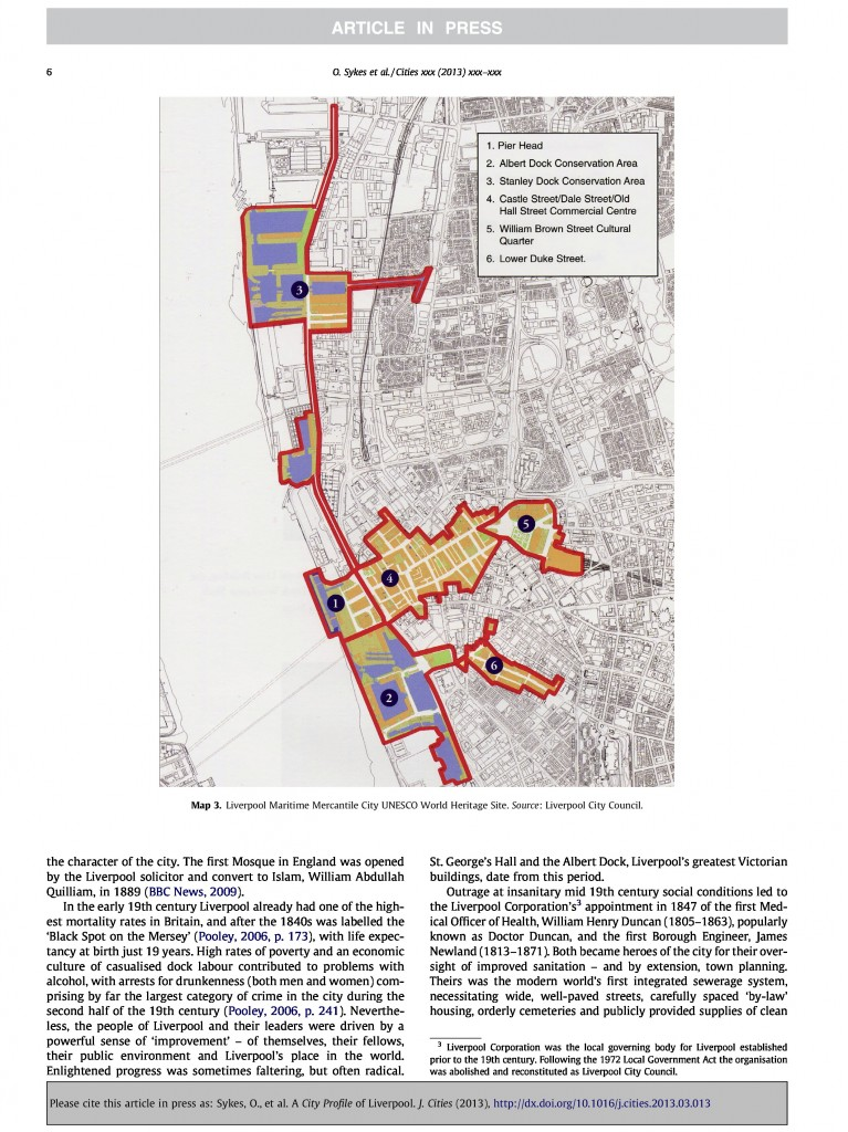 Liverpool City Profile, Journal of Cities, 2013, Page 6/20