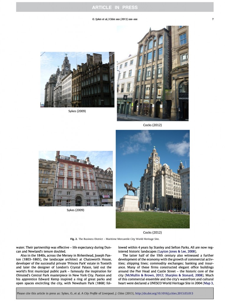 Liverpool City Profile, Journal of Cities, 2013, Page 7/20
