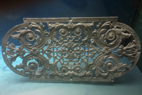 Titanic ornate ventilation grille, salvaged from the ship wreck